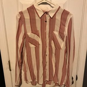 Pink and White Button Down